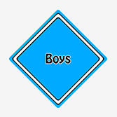 Boys Car Signs from Car Signs Direct