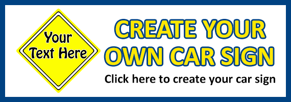 Create Your Own Car Sign Banner