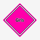 Girls Car Signs from Car Signs Direct