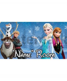 Disney Pixar Frozen Bedroom Sign