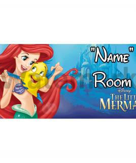 Disney Little Mermaid 2 Bedroom Sign