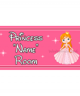 Personalised Princess Bedroom Sign