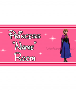 Personalised Princess Bedroom Sign Anna