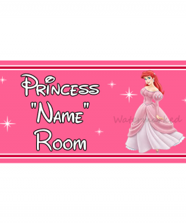 Personalised Princess Bedroom Sign Ariel
