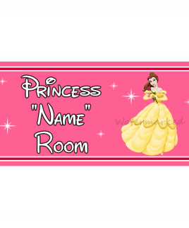 Personalised Princess Bedroom Sign Belle