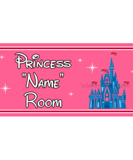 Personalised Princess Bedroom Sign Castle