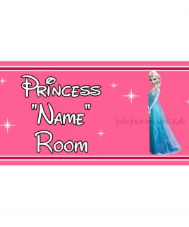 Personalised Princess Bedroom Sign Elsa