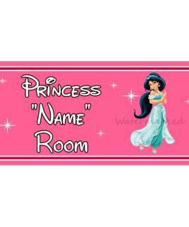 Personalised Princess Bedroom Sign Jasmine