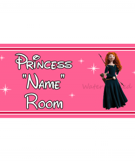 Personalised Princess Bedroom Sign Merida