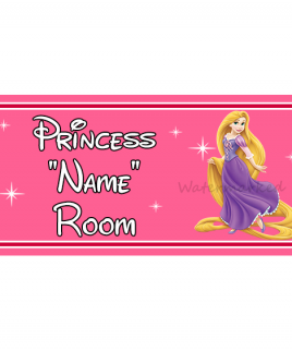 Personalised Princess Bedroom Sign Rapunzel