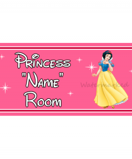 Personalised Princess Bedroom Sign Snow White