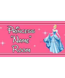 Personalised Princess On Board Sign Cinderella