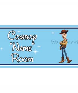 Disney Bedroom Sign Cowboy Woody