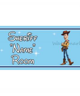 Disney Bedroom Sign Sheriff Woody