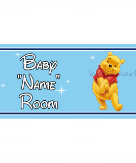 Disney Bedroom Sign Winnie