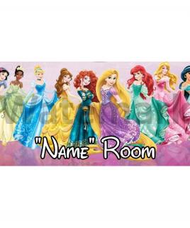Disney Princesses Bedroom Sign 2