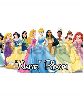 Disney Princesses Bedroom Sign