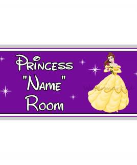 Purple Personalised Princess Bedroom Belle