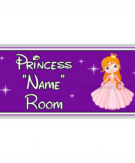 Purple Personalised Princess Bedroom Sign