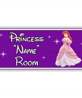 Purple Personalised Princess Bedroom Sign Ariel