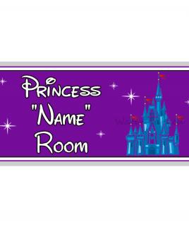 Purple Personalised Princess Bedroom Sign Castle