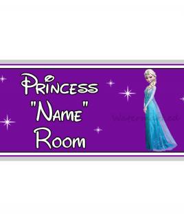 Purple Personalised Princess Bedroom Sign Elsa