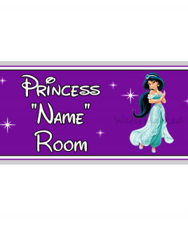 Purple Personalised Princess Bedroom Sign Jasmine