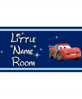 Disney Pixar DB Prince Bedroom Sign Lightening McQueen