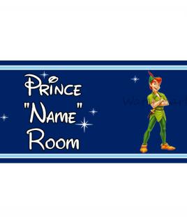 Disney DB Prince Bedroom Sign Peter Pan