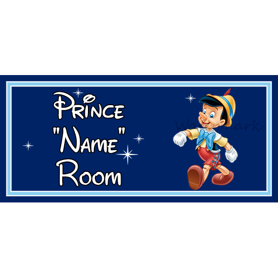 Disney Pinocchio Personalised Baby On Board Car Sign