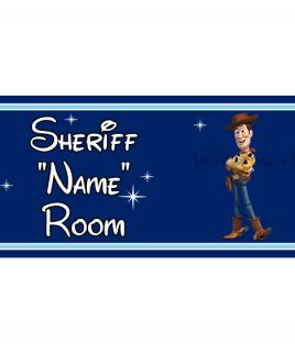 Disney Pixar DB Prince Bedroom Sign Sheriff Woody