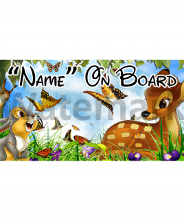 Disney Bambi Baby On Board Car Sign