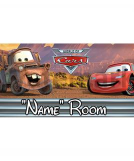Disney Pixar Cars Bedroom Sign 2