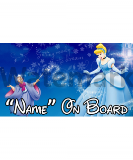 Disney Cinderella Baby On Board Car Sign 2