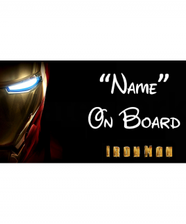 Marvel Ironman 3 On Board Car Sign