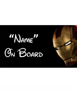 Marvel Ironman 4 On Board Car Sign
