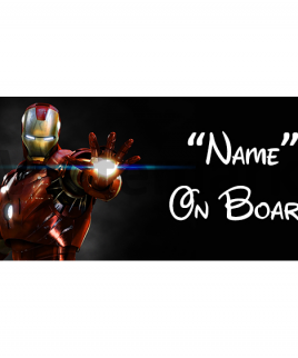 Marvel Ironman 7 On Board Car Sign
