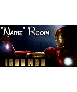 Marvel Ironman Bedroom Sign
