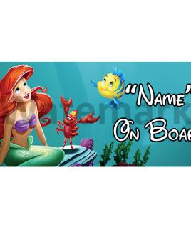 Disney Little Mermaid On Board Car Sign