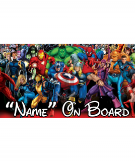 Marvel 2 On Board Car Sign