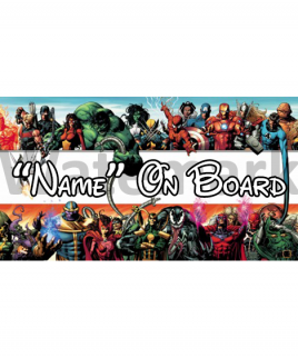 Marvel 4 On Board Car Sign