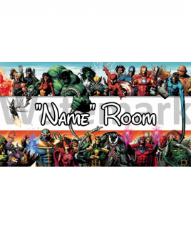 Marvel 4 Bedroom Sign