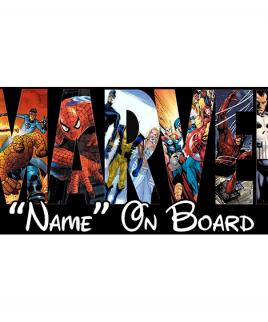 Marvel 5 On Board Car Sign