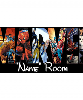 Marvel 5 Bedroom Sign