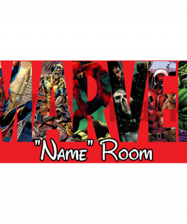Marvel 6 Bedroom Sign