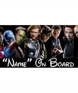 Marvel 8 On Board Car Sign