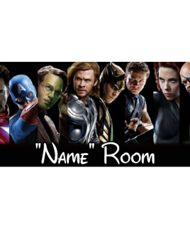 Marvel 8 Bedroom Sign