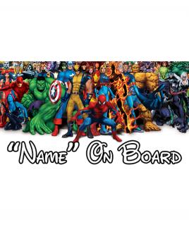 Marvel On Board Car Sign