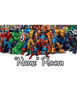 Marvel Bedroom Sign