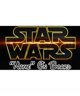Star Wars 2 On Board Car Sign
